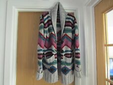 heavy knitted wool mix cardigan   size  18