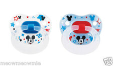 NUK Disney Mickey Mouse Orthodontic Silicone Pacifier 2 Pack (6-18 Months)Size 2