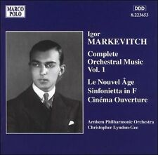 Markevitch Complete Orchestral Music Vol.1 Le Nouvel Age Sinfoniet CD Marco Polo
