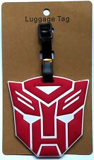 4X3.5in TRANSFORMERS Autobot red logo Optimus Prime Travel Baggage LUGGAGE TAG