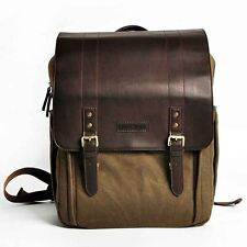 CADEN Retro Leather DSLR Camera Bags Case Messenger Backpack Bag for Nikon Canon