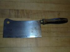 Antique 6 1/2 D.K. GUSS  STAHL chef's meat cleaver 16 oz. wood handle Germany