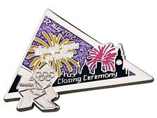 "OFFICIAL LICENSED LONDON 2012 OLYMPIC GAMES PIN / BADGE ""CLOSING CEREMONY DAY18"""