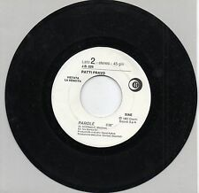 PATTY PRAVO EDUARDO DE CRESENZO disco 45 g. MADE in ITALY Promo Juke Box PAROLE