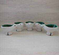 5 ANCIEN VINTAGE CERAMIQUE DESIGN XXEME ANNEES 50 NON SIGNE Coquetier Egg cup
