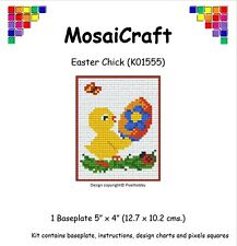 MosaiCraft Pixel Craft Mosaic Art Kit 'Easter Chick' (Like Paint By Numbers)