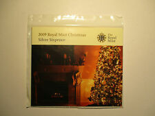 ROYAL MINT 2009 CHRISMAS SILVER SIXPENCE