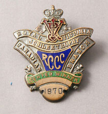 Royal Victoria Trophy Pin Center Wimmer 1970 Curling Club Pin Canada