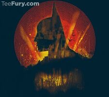 BATMAN Gotham City The Dark Knight DC Comic Book Variant Art NEW TEEFURY T-SHIRT