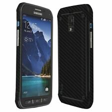 Skinomi Carbon Fiber Black Skin+Screen Protector for Samsung Galaxy S5 Active