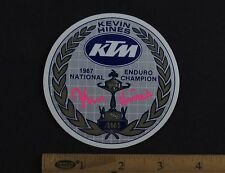 1987 KTM KEVIN HINES NATIONAL ENDURO CHAMPION STICKER Decal Vintage Motorcycle