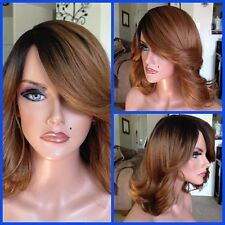 FREE SHIPPING - Classic Cap - Quality Synthetic Wig - Ombre Golden Brown Hair