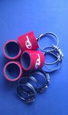 Silicone Hose 50mm Fitting Kit for Bike Carbs or Throttle Bodies RED