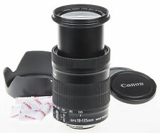 Canon EF-S 18-135mm f/3.5-5.6 IS zoom lens +EW-73B hood *good condition*