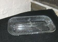 Serving dish Vintage 3 section unique style nice heavy dish