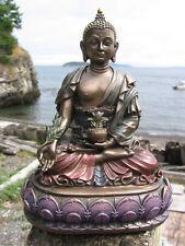 FREE SHIP! HANDPAINTED Tibetan Buddhist BELOVED HEALING MEDICINE BUDDHA STATUE