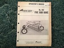 R-162 - Is A New Operators Manual For A New Idea 402 Parallel Bar Rakes