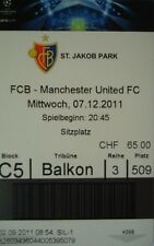 TICKET UEFA CL 2011/12 FC Basel - Manchester United