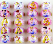 hot sell 100 Cartoon Girls Princess Children Resin Rings Wholesale Jewelry lots