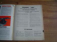 REVUE TECHNIQUE évolution des PEUGEOT 204 1966 - 1969...2 - 3 - 4 et 5 portes