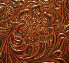 39 sf 2 oz.Exquisite Brown Western Floral Hide Leather Skin u77E F