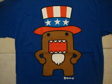 Domo Teeth in Mouth Uncle Sam Hat Artwork Blue T Shirt L