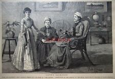 """Antique Engraved Print 1886 - """"Love's Sacrifice"""" from a drawing by Fritz Althaus"""