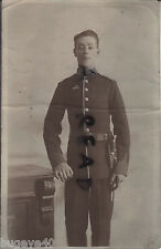 WW1 soldier Middlesex Regiment TF Territorial wears Imperial Service Badge