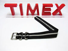 NEW-TIMEX 20MM WEEKENDER BLUE+WHITE STRIPE NYLON REPLACEMENT BAND,STRAP T7B893