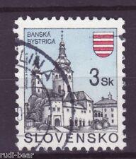 Slowakei Nr.  206  gest.  Städte Baňská Bystrica Neusohl Besztercebánya -2