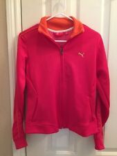 Women's PUMA Fuschia Pink Zippered Track Jacket Size Small