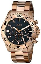 NEW-GUESS ROSE GOLD TONE,S/STEEL,CHRONOGRAPH,BRACELET WATCH-U0170G3