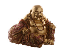 Chinese Buddha.Hand On Knee.Laughing.Happy.Spiritual.Feng Shui. Luck.