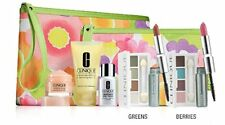 CLINIQUE GIFT BOXED 7 Piece Set Makeup & Skincare GREENS + Bag New & Sealed