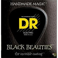 DR BKB-45 Black Beauties Medium Gauge 4-String Bass Guitar Strings (45-105)