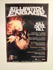KILLSWITCH ENGAGE 2014 Australian Tour Poster A2 Disarm The Descent ***NEW***