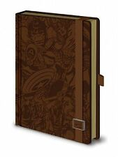 A5 Premium Marvel Notepad Journal Pad Retro Comic Leather Look Gift
