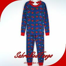 NWT HANNA ANDERSSON ORGANIC LONG JOHNS PAJAMAS COZY CABIN 90 3T 3