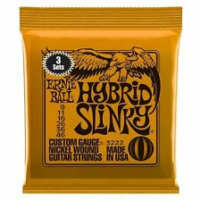 Ernie Ball 3 Pack Hybrid Slinky Nickel Wound Electric Guitar Strings Gauge 9-46