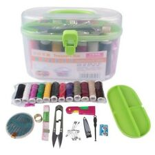 Home Travel Thread Threader Needle Tape Measure Scissor Storage Box Sewing Kit