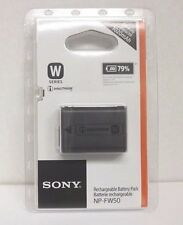 TWO (2) NEW Genuine Sony NP-FW50 Lithium-ion 7.2V 1020mAh Rechargeable Batteries