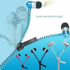 3.5mm Jack In-Ear Zip Zipper  Tangle Free Headphones Headset Earphone With Mic