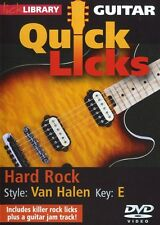 Lick Library EDDIE VAN HALEN Guitar QUICK LICKS and Rock Riffs Video Lessons DVD