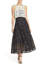 Sachin & Babi Noir 'Flora' Embroidered Organza Dress Size 8