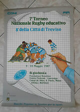 POSTER 7° TORNEO NAZIONALE RUGBY EDUCATIVO - TREVISO 1987