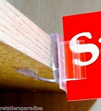 SALE TODAY! 25 THICK WOOD SHELF SIGN TAG UPC LABEL CLIP HOLDERS FOR RETAIL STORE