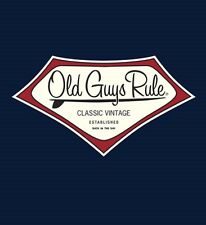 "OLD GUYS RULE LONGBOARD ""CLASSIC VINTAGE "" EST. BACK IN THE DAY SURFBOARD S/S XL"