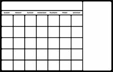 LARGE DRY ERASE MONTHLY WALL CALENDAR DECAL STICKER