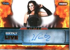 TNA Winter 2013 Impact Wrestling LIVE GREEN Autograph Card SN 14 of 50