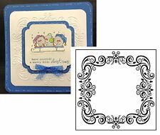 Holidays Embossing Folders CHRISTMAS SQUARE frame Nellie Snellen folder EFE004